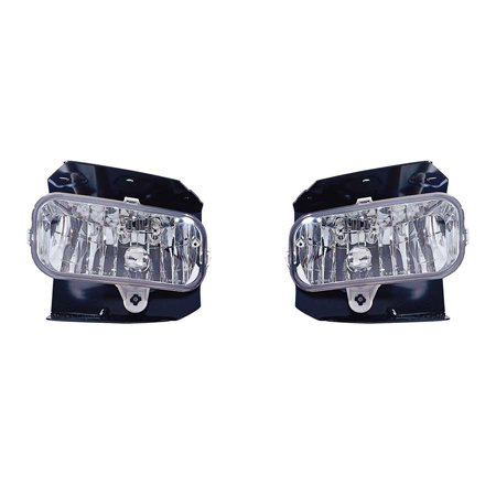 Fits Ford F-150 1999-2004/250 LD 1999 Foglight Assembly XL,XLT,Lariat Model w/o STX Edition Pair Driver and Passenger Side FO2591105
