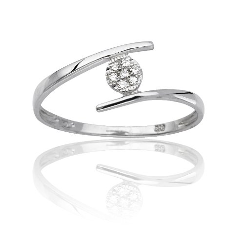 CLEOR - Bague CLEOR Or 375/1000 Diamants - Femme