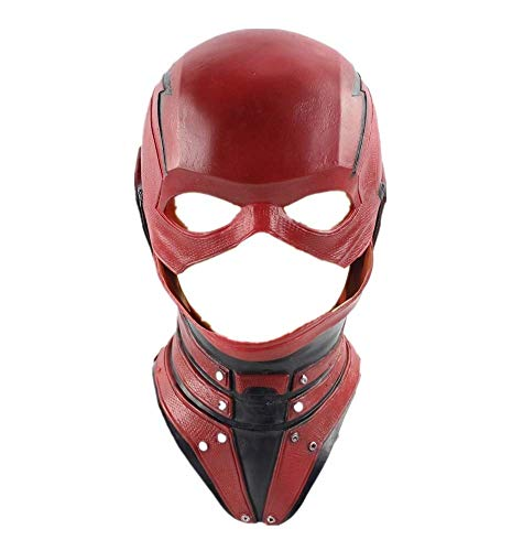 The Superhero Cosplay Latex Overhead Mask Halloween Xmas Party Cosplay Props Type B (Flash Mask Adult)