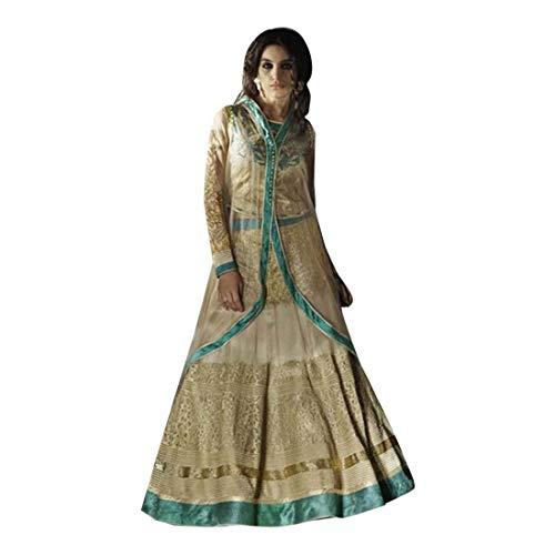 Wedding Festive Georgette Anarkali Choli Ghagra Designer Dupatta Indian Muslim Navratri 7195