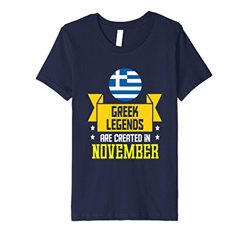 Greece Costume For Boys (Kids Funny Greek Legends Are Created In November T-shirt Greece 4 Navy)