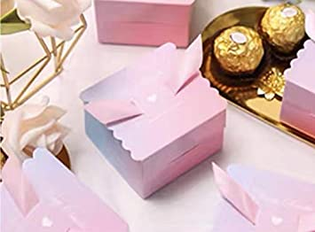 Cajitas para Comunion chuches Cajitas de carton Fiestas infantiles Gradiente Cajitas prar regalos eventos 50 Cajas Navidad Cumplea/ños bombones para detalles Boda caramelos.