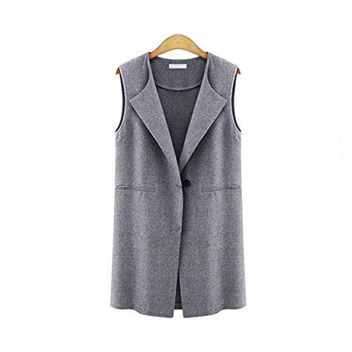 Puissant fishing-vests Vest Coats Women Luxury Turn-Down Collar Coat Ladies Black Vest Female Casual Waistcoat,Gray,5XL (Patagonia Womens Classic Retro X Fleece Jacket)