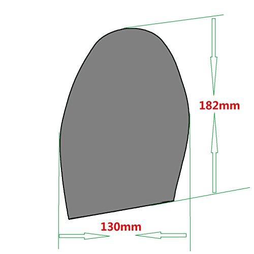 Schuh-Ersatz-Gummi-Halbsohle, Gummiplatte, Dicke und Farbe wählen, Packung mit 1 Paar A: Schwarz