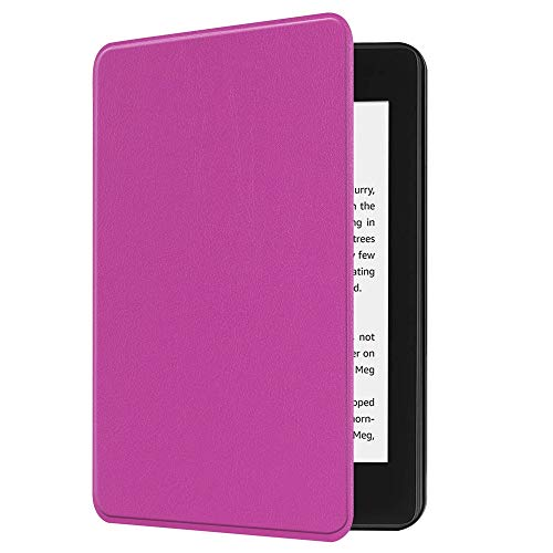 Sonmer Auto Sleep/Wake Solid Color Folio Case Cover For New Amazon Kindle Paperwhite 10th Gen 2018 (Purple)