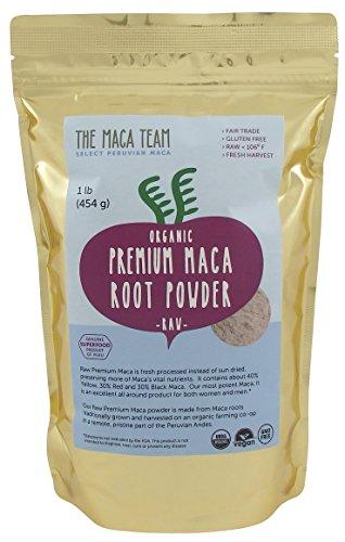 Certifié Biologique Raw Premium Poudre de Maca - le Plus Puissant de la Maca n'importe où, Frais de Récolte, Du Pérou, du Commerce Équitable, sans Ogm, sans Gluten, Végétalien et Cru, 1 Lb - 50 de Servir
