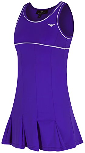 Bace Girls Purple and White Tennis Dress with Underpants Kids Tennis Dress Junior Netball Dress Golf Dress Sportswear