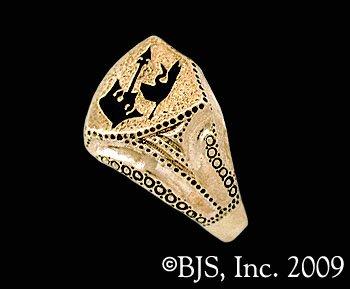 14k. Gold Lan's Ring ™ - Ring of the Malkieri Kings ™ Robert Jordan Wheel of Time ® Jewelry by Raven Blackwood