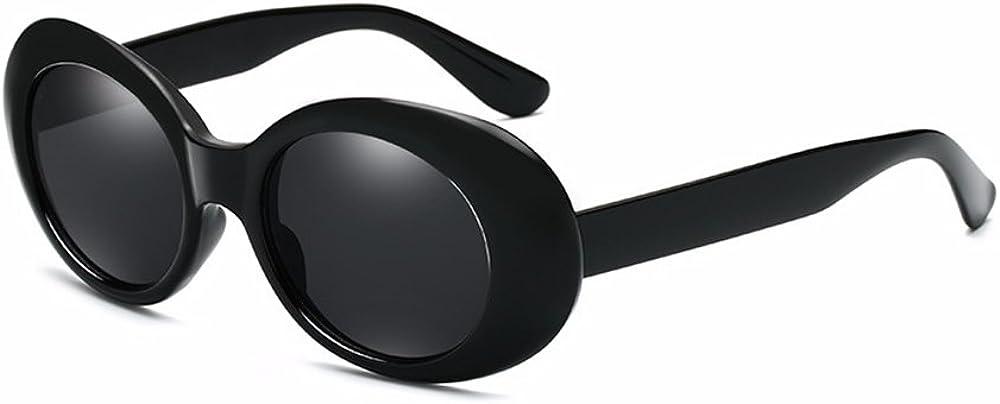 BOZEVON Retro Gafas de sol Ovaladas UV400 de Protecci/ón Anteojos para Mujer y Hombre