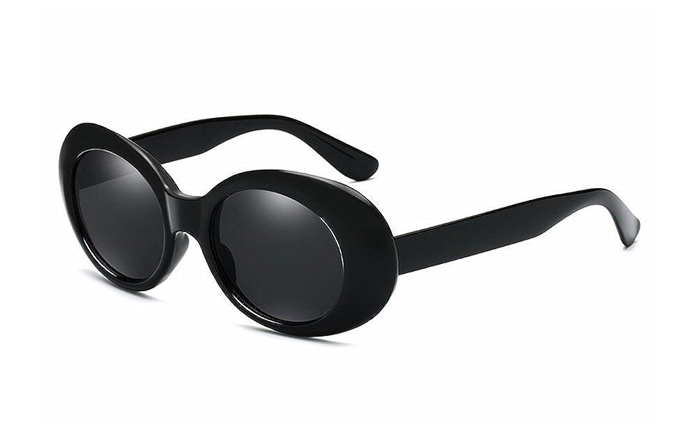 3ddd43371 BOZEVON Retro Oval Sunglasses - UV400 Sunglasses Goggles For Women & Men  Black-Black C4: Amazon.co.uk: Clothing