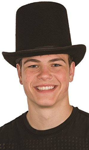 Deluxe Felt High Crown Costume Top Hat 23734 Victorian Dickens Black Large (Victorian Costume Age 13)