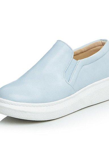 ZQ gyht Zapatos de mujer - Plataforma - Plataforma / Creepers / Punta Redonda - Mocasines - Exterior / Vestido / Casual - Semicuero -Negro / Azul , blue-us8 / eu39 / uk6 / cn39 , blue-us8 / eu39 / uk6 black-us5.5 / eu36 / uk3.5 / cn35