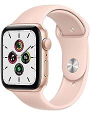 Apple Nuevo Watch SE GPS• Caja de Aluminio Color Oro de 44mm• Correa Deportiva Color Arena Rosa - Estándar