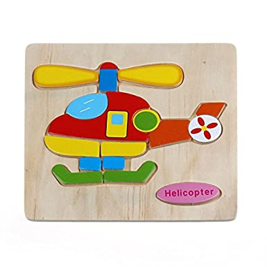 Cartoon Wooden Puzzle, Waymine Cute Colorful and Diverse Wooden Blocks Puzzle Baby Kid Educational Training Toys Funny Gift for 1-3 Years Old Kids (Squirrel)