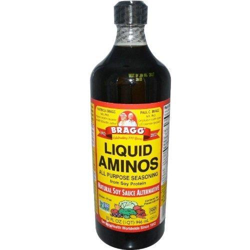 Bragg Liquid Aminos All Purpose Seasoning Soy Sauce Alternative, 32 Fl Oz, 2 ()