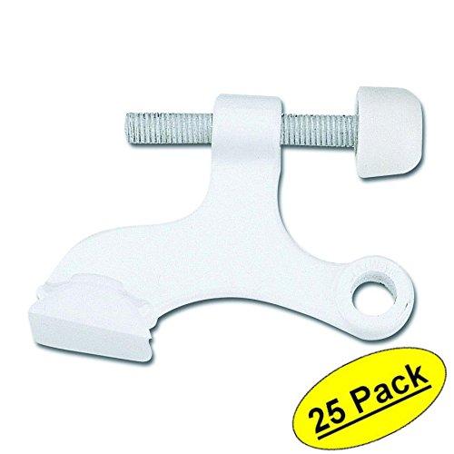 Designers Impressions White Heavy Duty Hinge Pin Adjustable Door Stop : 7135 - 25 Pack