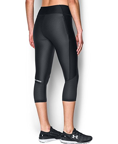 Under Armour Women's UA Fly-By Printed Capri X-Large Black