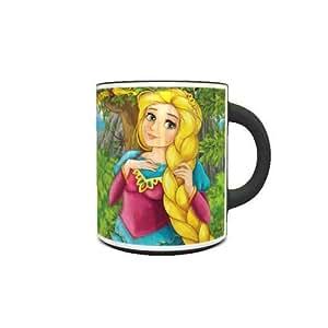 Color Changing Heat Sensitive Coffee Mug with Fairy Tale Pincess Design