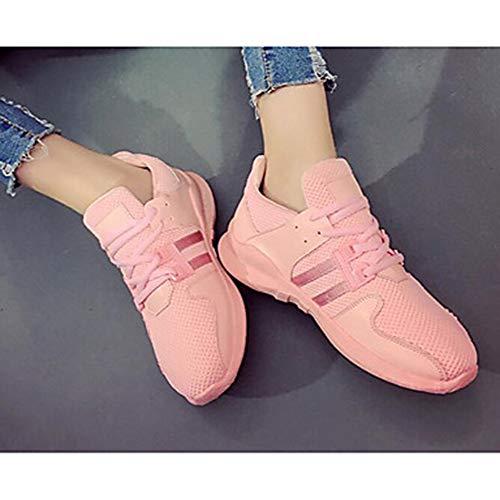 CN37 Corda Bianco US7 TTSHOES Comoda Scarpe Rosa Per Estate Sneakers UK5 Nero EU37 5 Donna Primavera Di Per Casual Pink wqBRfHqI