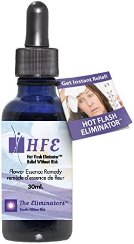 Hot Flash Eliminator Instant Menopause Relief Stops Hot Flashes, Night Sweats, Mood Swings and Anxiety Using Natural Safe Ingredients (No Estrogens) 1 Bottle