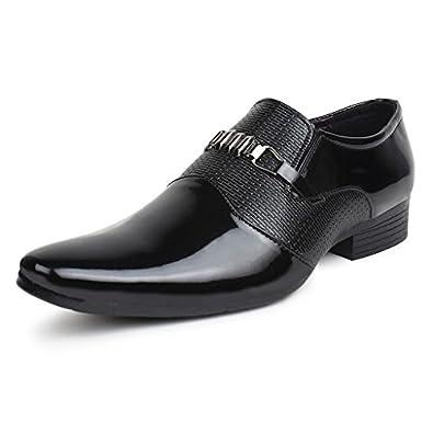 Buwch Men's Black Formal Shoes - 10 Uk