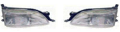 Fits 95 96 Toyota Camry Headlight Pair Set Both NEW Headlamp Front Driver and Passenger ()