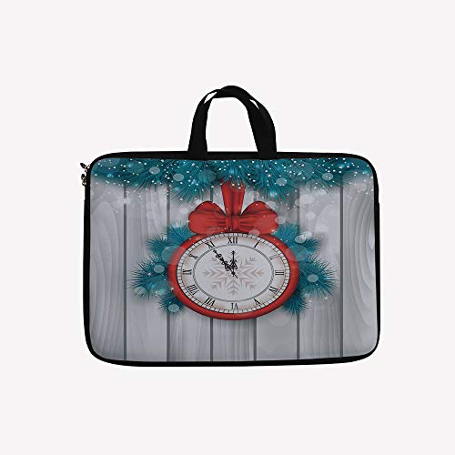 3D Printed Double Zipper Laptop Bag,A Clock and Fir for sale  Delivered anywhere in USA