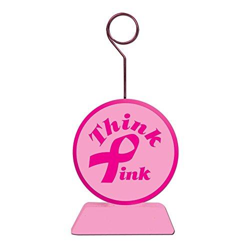 Beistle 50659 Pink Ribbon Photo/Balloon Holder