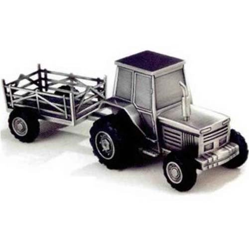 Pewter Tractor Bank - Elegance Pewter Plated Tractor Bank