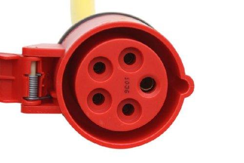 CEE Starkstromkabel 25m 400V 16A CEE-Verl/ängerung Verl/ängerungskabel K35-N07V3V3-F 5x1,5mm/² IP44