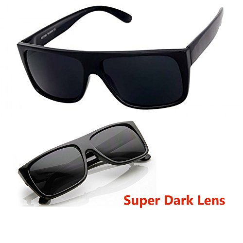 Classic Old School Super Dark Lens Locs - Glasses Locs Sun