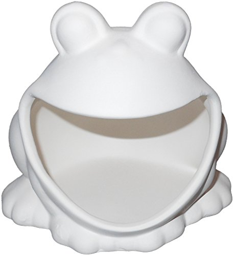 Super Fun Frog Kitchen Scrubbie Holder - Paint Your Own Kitchen Helper Ceramic Keepsake Unpainted Ceramic Figures