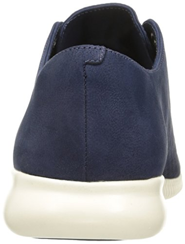 Cole Haan Women's GrandEvOlution Shortwing Oxford, Ivory Leather-Optic White, 7.5 UK Marine Blue Nubuck