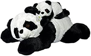 "Super Soft Giant Panda Bears Stuffed Animals Set by Exceptional Home Zoo - 18"" Pandas with Baby Teddy Bear Cub - Kids Toys - Plush Animal Gifts Children - Give Happiness"