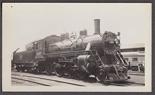 Chicago Milwaukee St Paul & Pacific Railroad 4-4-2 #3002 locomotive photo ()