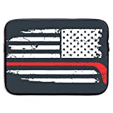 Waterproof Laptop Sleeve Pocket MacBook Air Pro Case Hockey American Flag Cover for All Computer Notebook 15 Inch