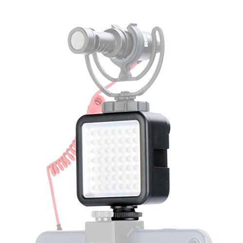 Ulanzi Ultra Bright LED Video Light - LED 49 Dimmable Ultra Bright High Power Panel Video Light, LED Light for DJI OSMO Mobile 2 Zhiyun Smooth 4 Gimbals for Canon (Mount Led Light)