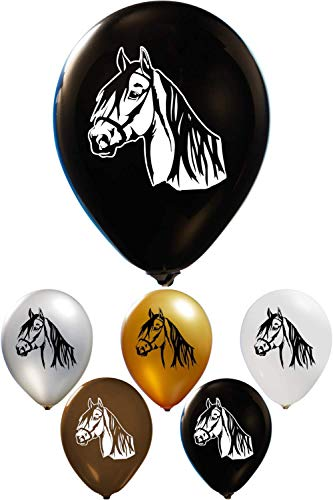 Horse Balloons - Printed on 2 Sides | 12