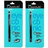 Lakme Eyeconic Kajal, 0.35g (Pack of 2)