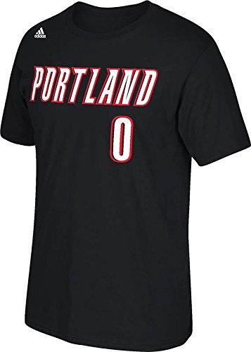 Adidas Portland Trail Blazers Damian Lillard NBA Nombre y número Camiseta - H98672, XXL, Negro: Amazon.es: Deportes y aire libre