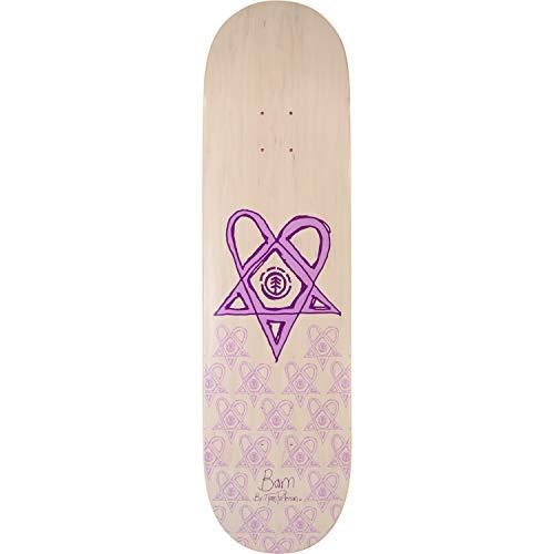 Decks Margera Skateboard Bam (Element Skateboards Bam Margera Heartagram Bam Tyson White/Purple Skateboard Deck - 8.5
