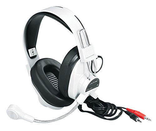 Califone 3066AV Deluxe Multimedia Stereo Wired Over-the-head Headset, 3.5mm Plug ()