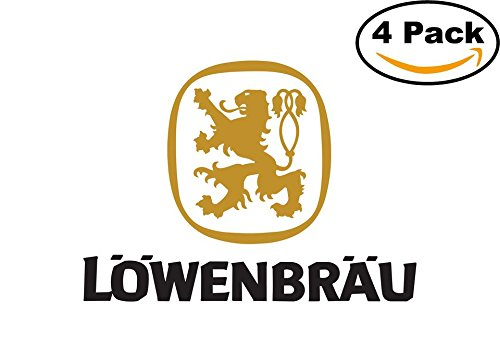 lowenbrau-2-beer-logo-alcohol-4-vinyl-stickers-decal-bumper-window-bar-wall-4x4