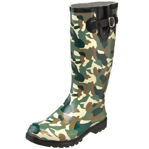 Nomad Womens Puddles Boots, Green