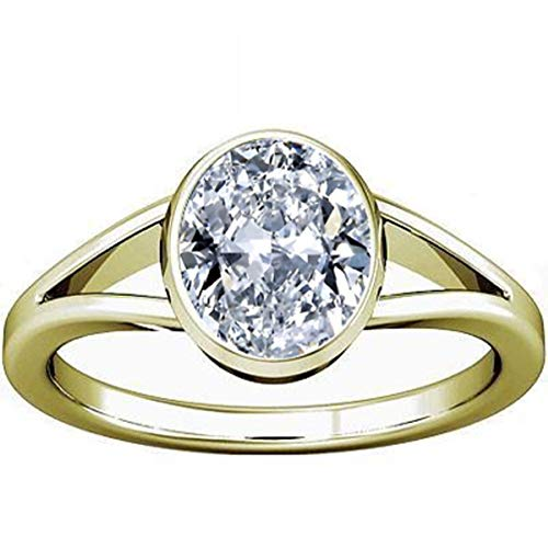 - Divya Shakti 12.25-12.50 Carats American Diamond Panchadhatu Ring (Zircon/Jerkan Panchadhatu Ring) 100% Original AAA Quality Gemstone
