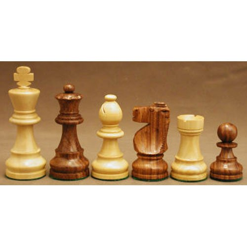 Worldwise Imports Sheesham and Boxwood French Knight Chessmen with 3.5in King