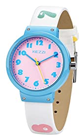 Dovoda Watch for Girls Easy Reading Times Teacher Leather Kids Watches