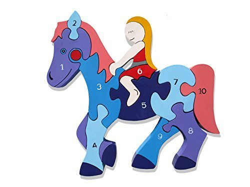 Alphabet Jigsaws number horse jigsaw puzzle by Alphabet Jigsaws