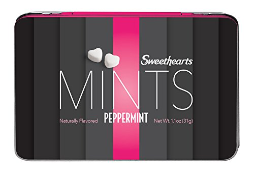 Price comparison product image Sweethearts Peppermint Mints Naturally Flavored Mirror Inside 1.1 oz Tin - 3 Pack