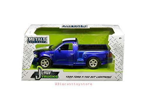 - New DIECAST Toys CAR JADA 1:24 W/B - Metals - JUST Trucks - 1999 Ford F-150 SVT Lightning (Candy Blue) 30358-MJ